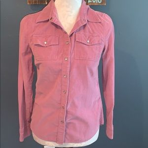 3/$15 Banana Republic Corduroy Button Down XS